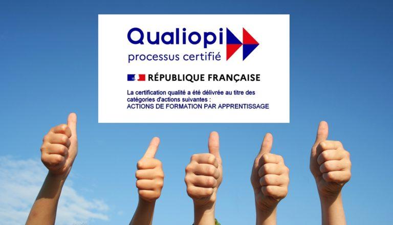 Notre école décroche la certification Qualiopi !